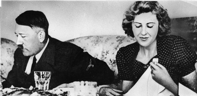 Officially, Hitler and Eva Braun committed suicide on 30 April