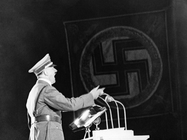 Basti believes the Fuhrer died in 1971 in Paraguay. Hitler is pictured here during a speech in Berlin...