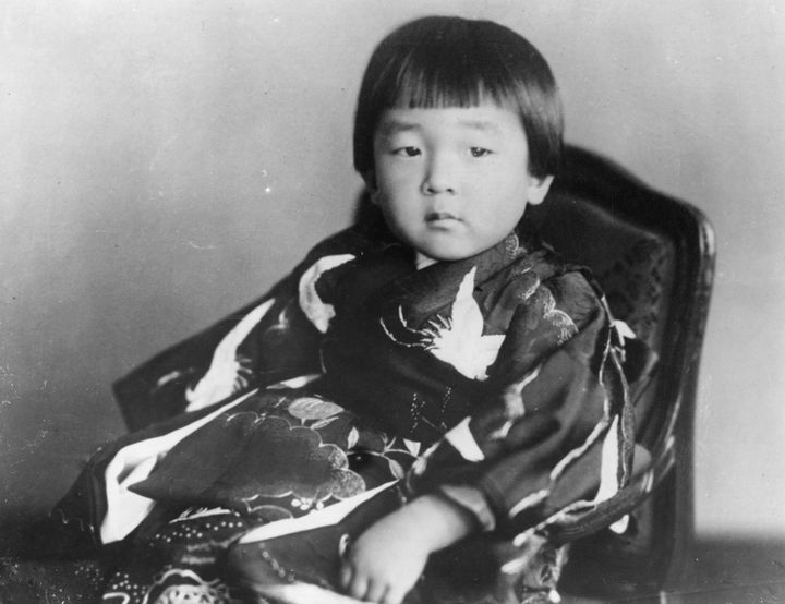 Japanese Crown Prince Akihito pictured on his third birthday.