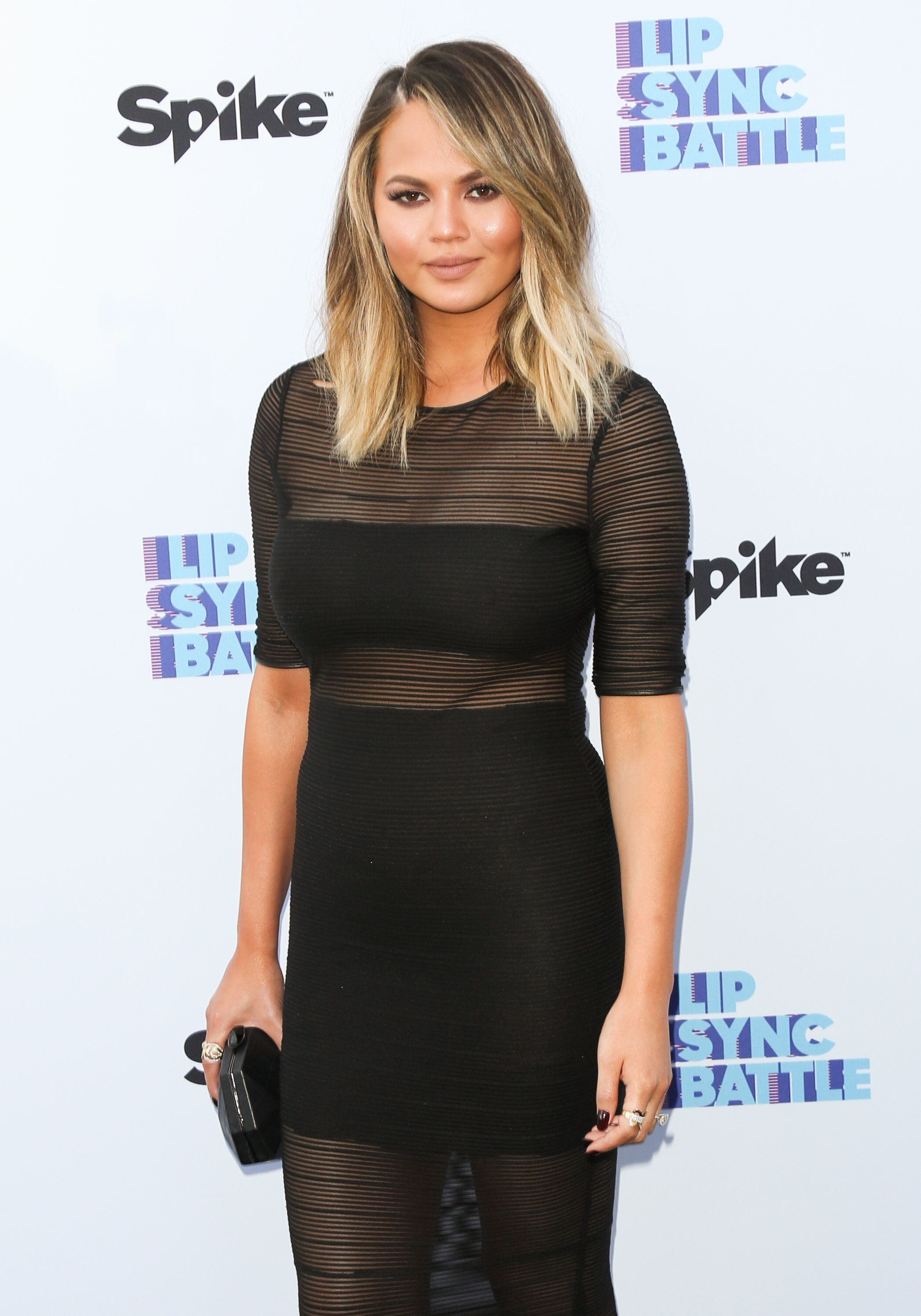 NORTH HOLLYWOOD, CA - JUNE 14:  Fashion Model / TV Personality Chrissy Teigen attends the screening of Spike's 'Lip Sync Battle' on June 14, 2016 in North Hollywood, California.  (Photo by Paul Archuleta/FilmMagic)
