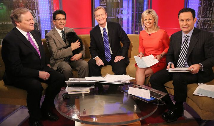 """Gretchen Carlson on """"Fox and Friends"""" in 2013."""