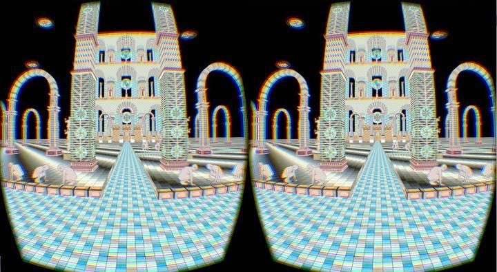 Screenshot, <i>Ixian Gate<br>Jess Johnson and Simon Ward<br>Virtual Reality animation with audio,5:35<br>Developer: Ken