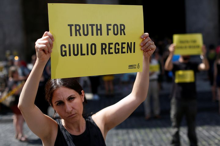 Some detainees are subjected to torture, Amnesty says, pointing to the case ofGuilio Regeni, an Italian detainee whose