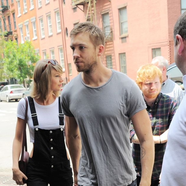 Taylor Swift and Calvin Harris (oh and Ed Sheeran's there, so that's