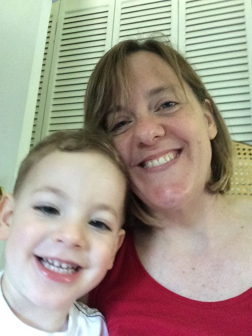 My son Charlie and me, July 2016.