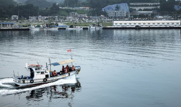 People in Sokcho, South Korea, can fish and play
