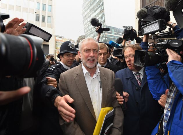 Corbyn appeared smiling from the NEC meeting when his place on the ballot paper was