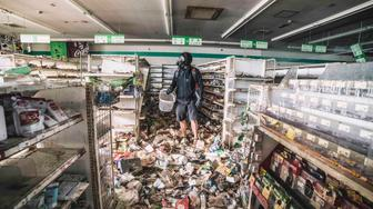 *** EXCLUSIVE ***  OKUMA, FUKUSHIMA, JUNE 2016: Among the locations Keow explored during his time there was an empty supermarket full of merchandise dating back to 2011, reminders of the 150,000 people were forced to leave, Okuma, Fukushima, June 2016.  A DAREDEVIL urban explorer has shared haunting images of the abandoned Fukushima earthquake ?exclusion zone? after sneaking in to the highly irradiated region. Wearing a gas mask but no other protective clothing, explorer and photographer Keow Wee Loong, 27, visited four of the evacuated towns in Fukushima - Tomioka, Okuma, Namie and Futaba - in June this year with friends Sherena Ng and Koji Hori. Lying completely untouched since March 2011, the city of Fukushima was evacuated suddenly after the east coast of Japan was devastated by a massive earthquake followed by a huge tsunami. Keow?s images give an eerie insight into the panic that followed the disaster and show a city stuck in time as calendars remain on the same date, families' clean washing is half-removed from driers and newspapers forever remain unsold.  PHOTOGRAPH BY Keow Wee Loong / Barcroft Images  London-T:+44 207 033 1031 E:hello@barcroftmedia.com New York-T:+1 212 796 2458 E:hello@barcroftusa.com New Delhi-T:+91 11 4053 2429 E:hello@barcroftindia.com www.barcroftimages.com