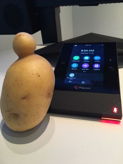 "An @UglyFruitandVeg potato saved by my Polycom colleague <a href=""https://www.huffpost.com/author/cam100-958"">Cameron Craig</"