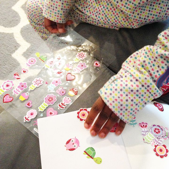 Stickers are agreat replacement for Pinterest-inspired crafts!