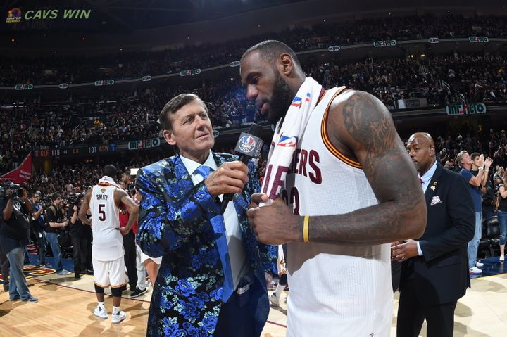 Sager's been reportingsports stories since 1972, but he had to wait until July 2016 to cover his first NBA Finals game.