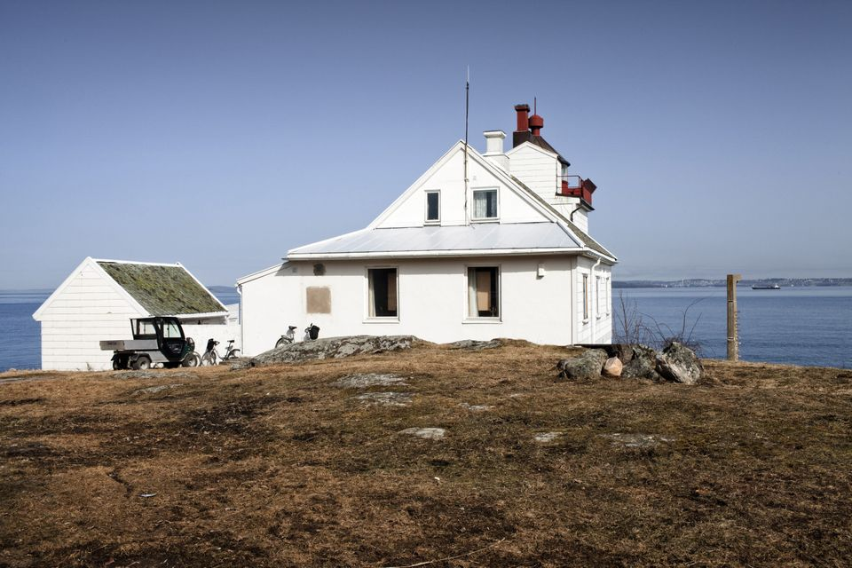 BASTOY ISLAND, HORTEN, NORWAY - APRIL 11:  The former Bastoy Island lighthouse now used by the prison workers as a holiday re