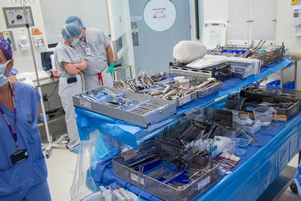 It took a lot of instruments to perform the surgery -- about 1,000 in all.