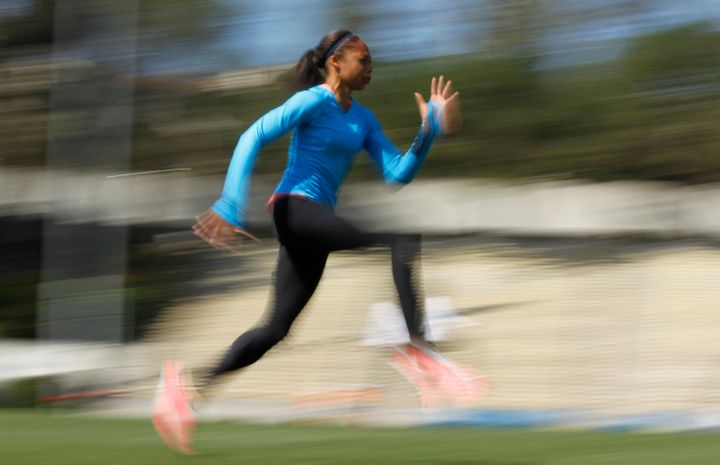 Speed training can benefit everyone -- not just sprinters, said Felix.