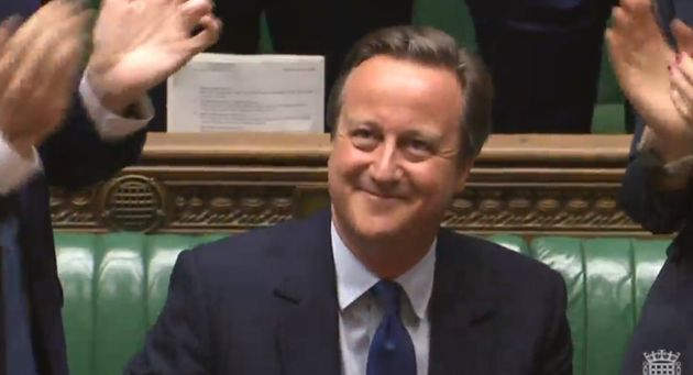 David Cameron's standing ovation at his final