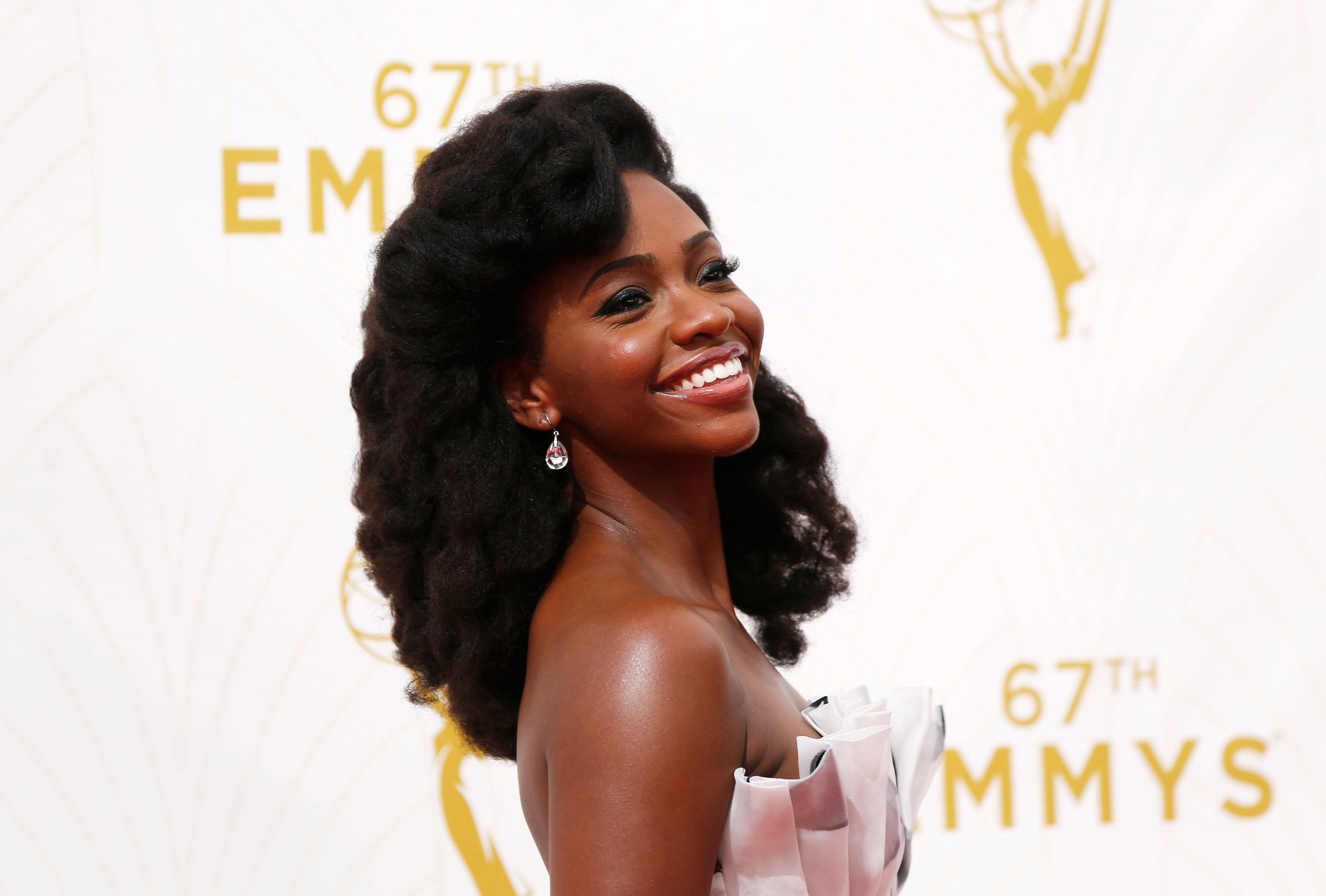Actress Teyonah Parris arrives at the 67th Primetime Emmy Awards in Los Angeles, California September 20, 2015.  REUTERS/Mario Anzuoni