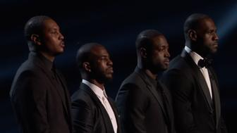 Carmelo Anthony, Chris Paul, Dwyane Wade and LeBron James at the 2016 ESPYs.