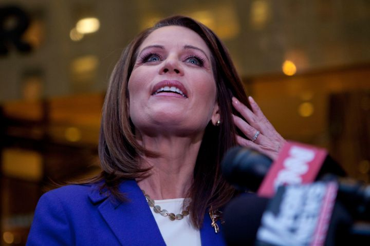 "Former Congresswoman Michele Bachmann (R-Minn.) said Donald Trump supports religious liberty, like when ""his Jews"" would"
