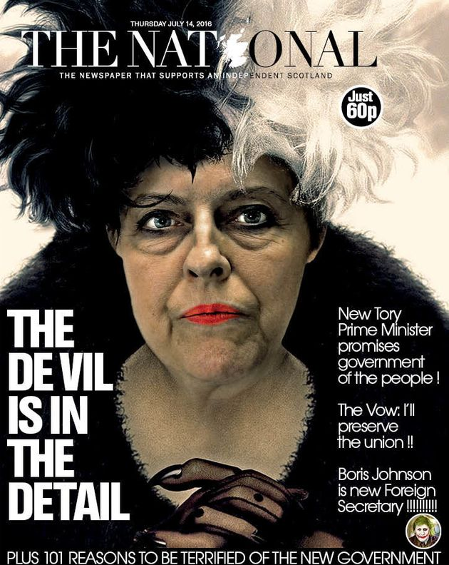 The National Newspaper Derided For Theresa May Depiction, SNP MPs Spark Social Media