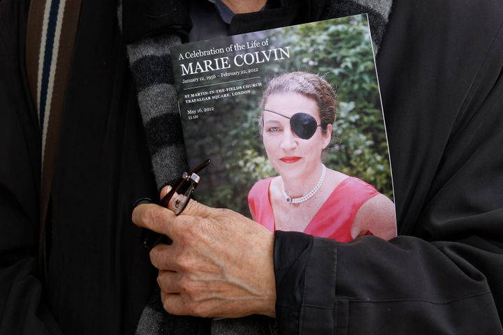 Journalist Marie Colvin's trademark black eye patch was a testament to her character. She lost an eye under government fire i