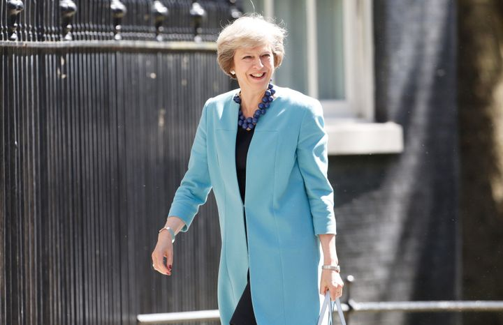 Britain's Prime Minister Theresa May arrives at 10 Downing Street, in central London July 13, 2016.