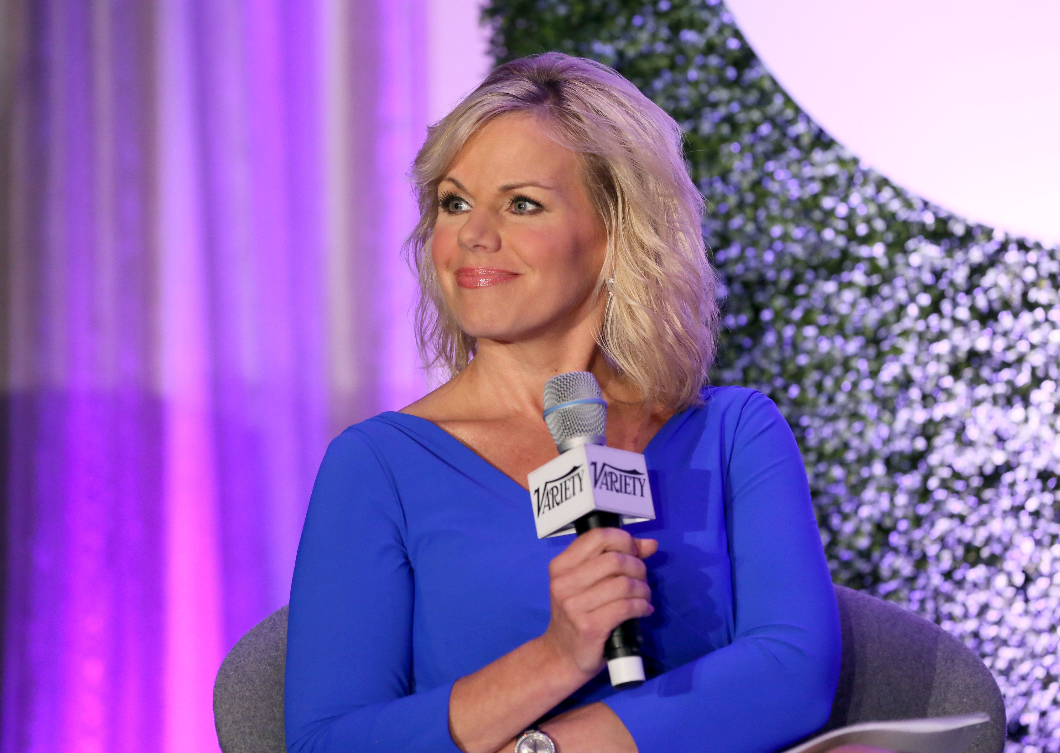 BEVERLY HILLS, CA - JUNE 12:  Fox News Channel Host Gretchen Carlson speaks onstage during a 'Fireside Chat on Persecuted' at Variety's Purpose: The Family Entertainment and Faith-Based Summit in association with Rogers And Cowan at Four Seasons Hotel Los Angeles at Beverly Hills on June 12, 2014 in Beverly Hills, California.  (Photo by Rich Polk/Getty Images for Variety)