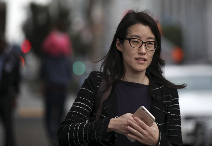 Former Kleiner Perkins partner Ellen Pao arrives at San Francisco Superior Court on March 24, 2015.