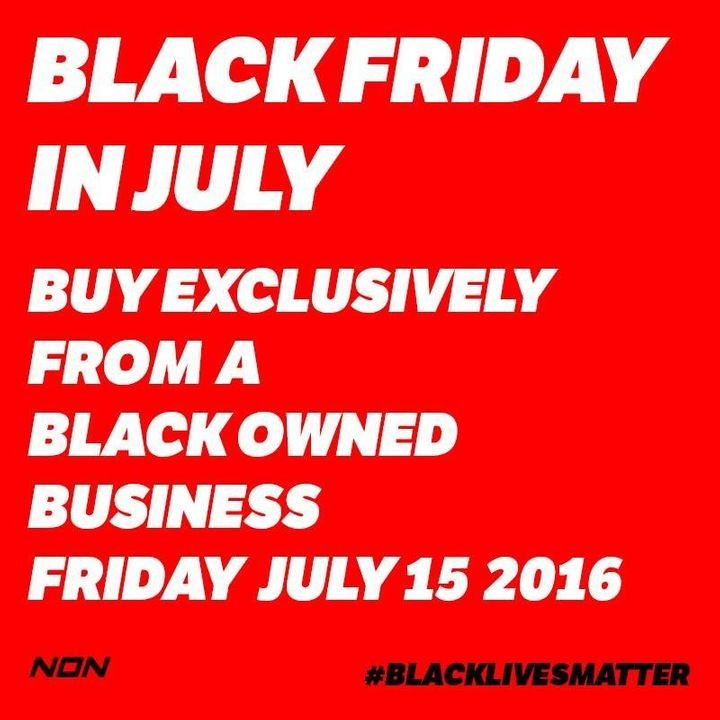 NON Worldwide asks that participants of Black Friday show black store owners this flyer.