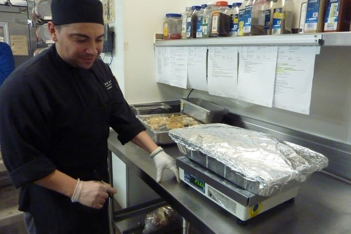 Cook Luis Cotto with the Whittier Food Recovery.