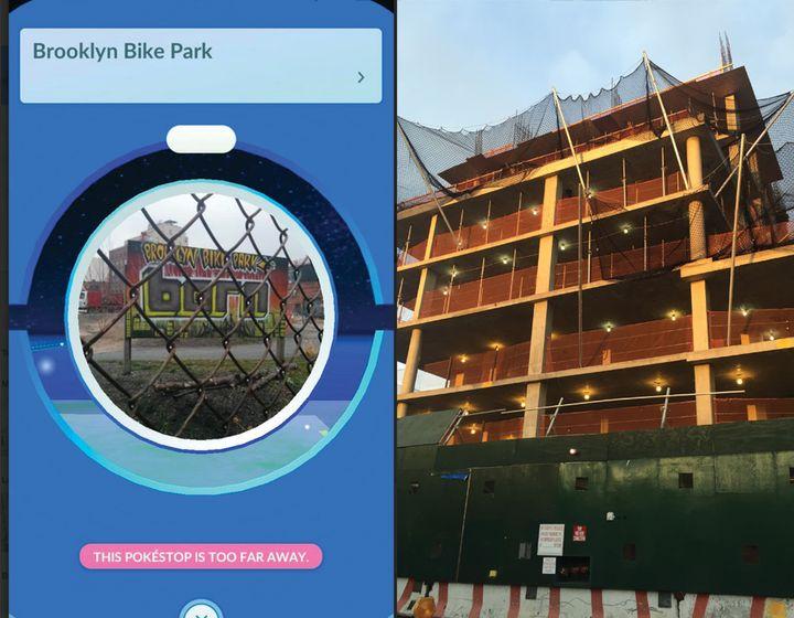 Brooklyn Bike Park Pokéstop / Domino Sugar development