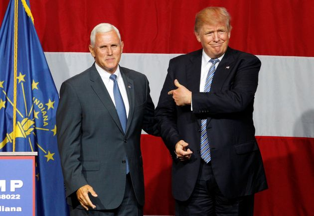 Trump introduces Pence as his running mate