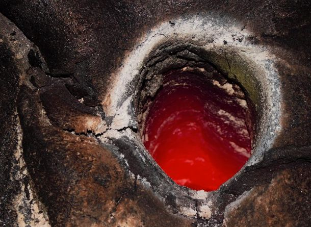 One of the lava tree molds Kawika Singson photographed during a recent