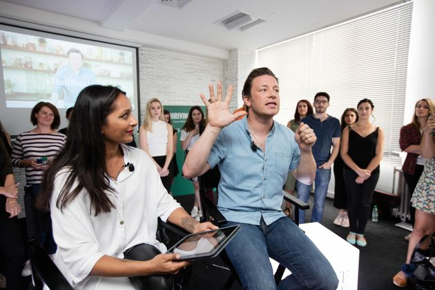 Jamie Oliver Admits 'Parenting Is Really Hard' But Tells Parent Bloggers 'We're All In It