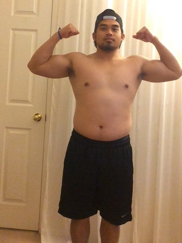 Magno at the start ofhis weight loss journey.