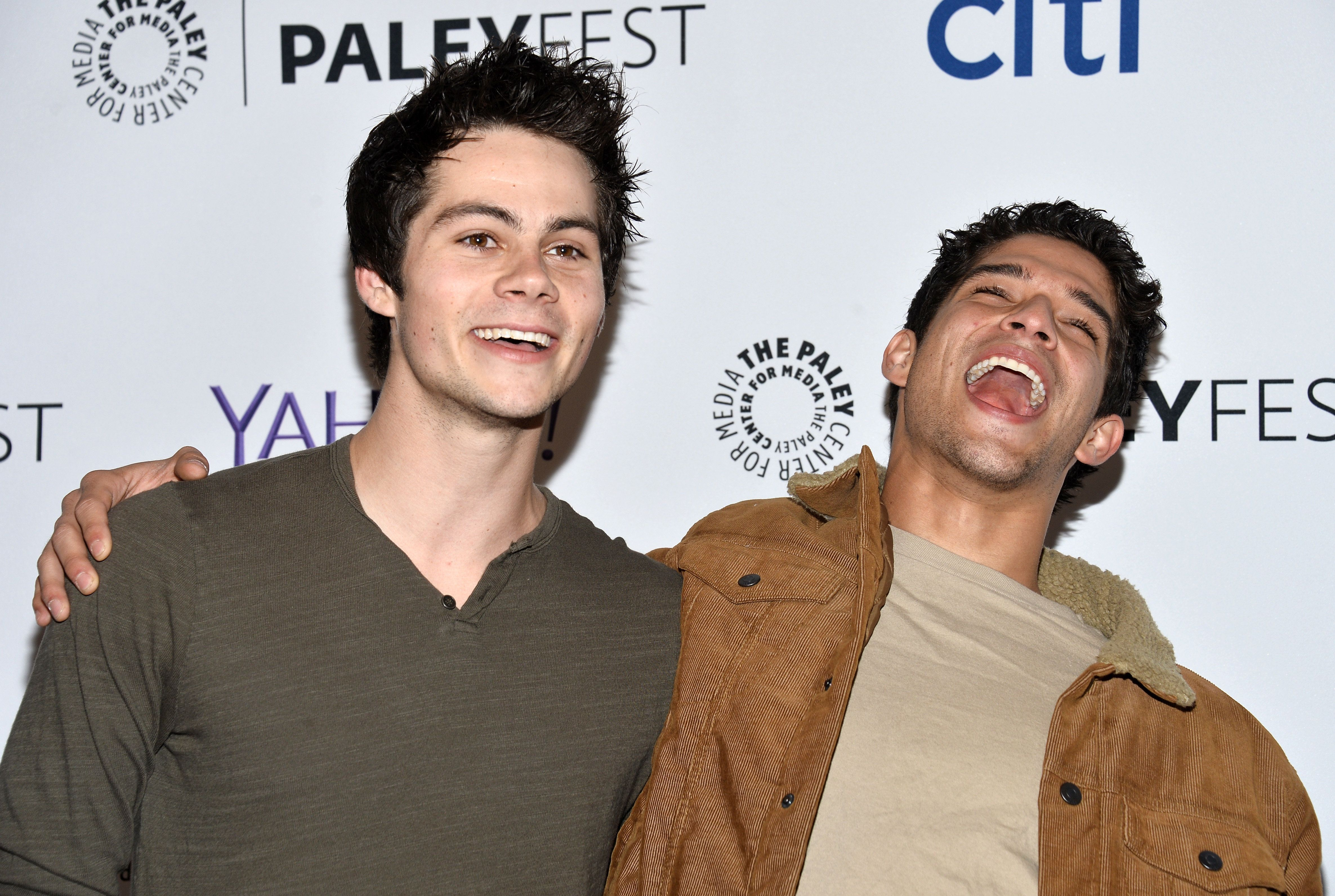 HOLLYWOOD, CA - MARCH 11:  Actors Dylan O'Brien (L) and Tyler Posey arrive at The Paley Center For Media's 32nd Annual PALEYFEST LA - 'Teen Wolf' event at the Dolby Theatre on March 11, 2015 in Hollywood, California.  (Photo by Amanda Edwards/WireImage)