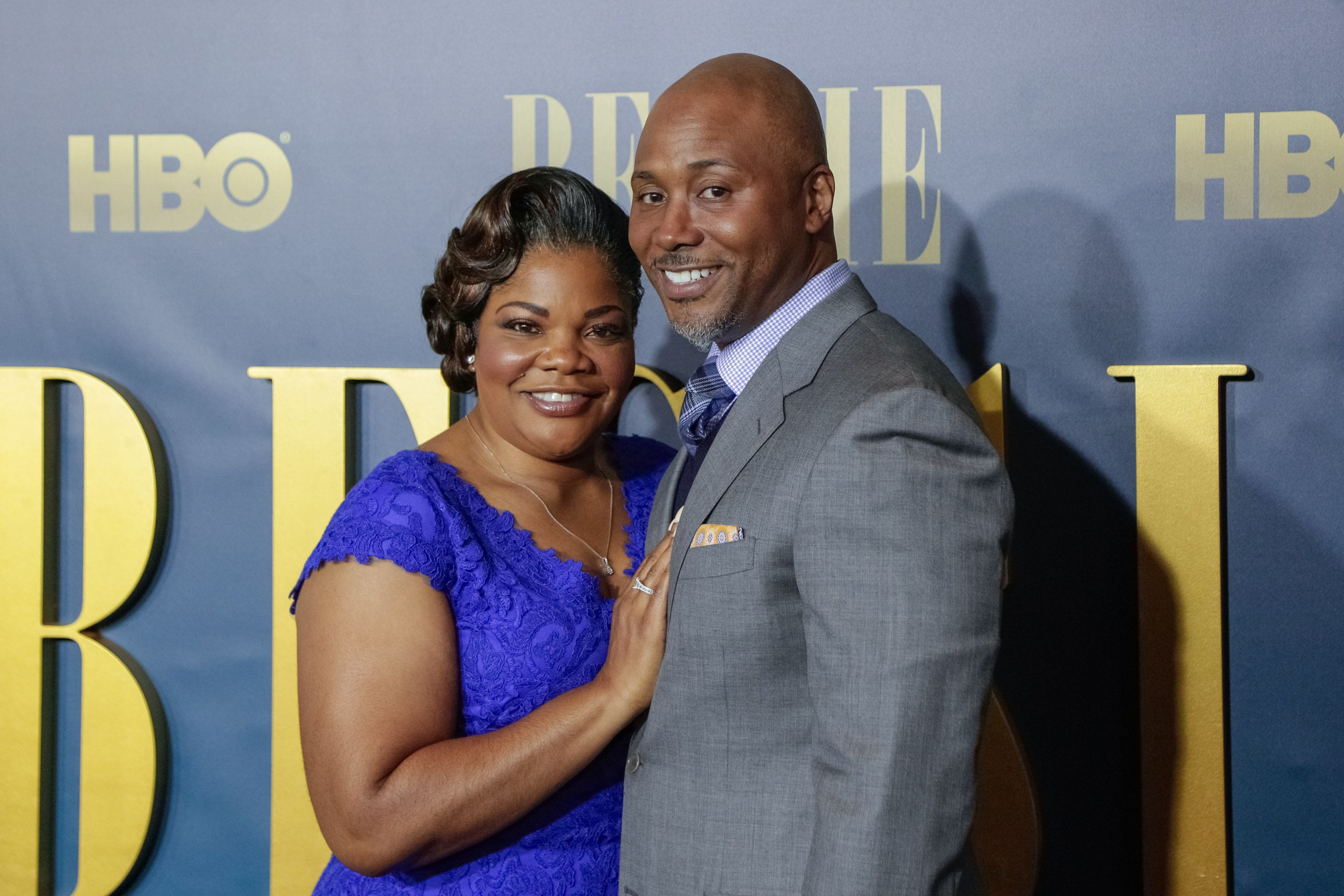 NEW YORK, NY - APRIL 29:  Actress Mo'Nique (L) and husband Sidney Hicks arrive for the New York screening of 'Bessie' held at The Museum of Modern Art on April 29, 2015 in New York City.  (Photo by Brent N. Clarke/FilmMagic)