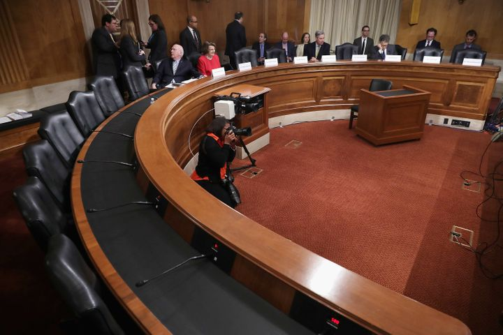 Democratic members of the Senate Judicary Committee convene a meeting to discuss what they see as Supreme Court nominee Merri