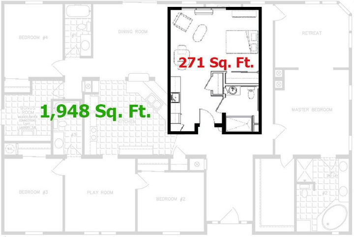 RENTCafe's diagram of an apartment layoutmakes it a little easier to picture the difference between the tiny apartment