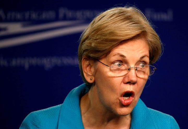 Senator Elizabeth Warren (D-Mass.) continues to hit out at presumptive GOP nominee Donald Trump's business practices.