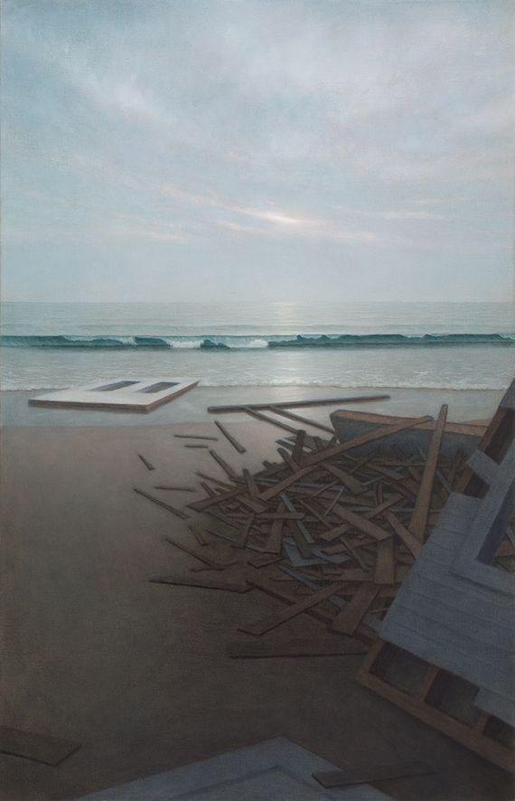 Marina Moevs, <i>Ocean II</i>, 2004, Oil on canvas, 50 x 32 inches