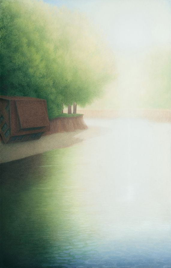 Marina Moevs, <i>River III</i>, 2009, oil on canvas, 50&rdquo; x 32&rdquo;