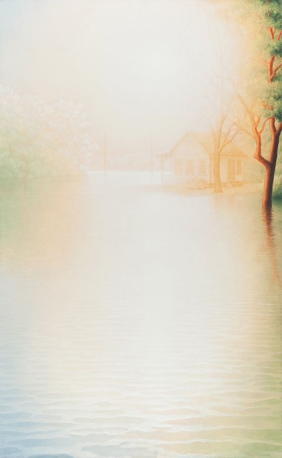"""Marina Moevs, <i>Flood VI</i>, 2011-12, oil on canvas, 78"""" x 48"""""""