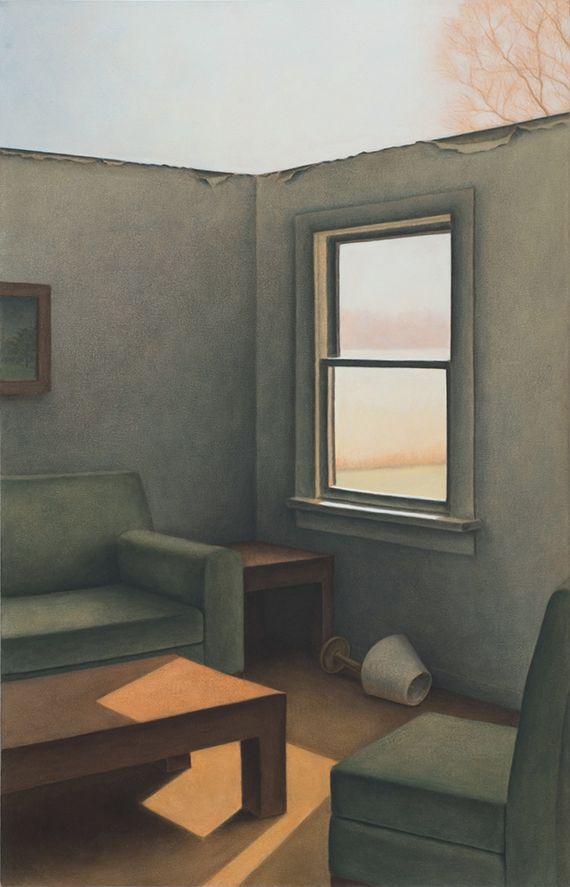 """Marina Moevs, <i>Interior</i>, 2006, oil on canvas, 50"""" x 32"""""""