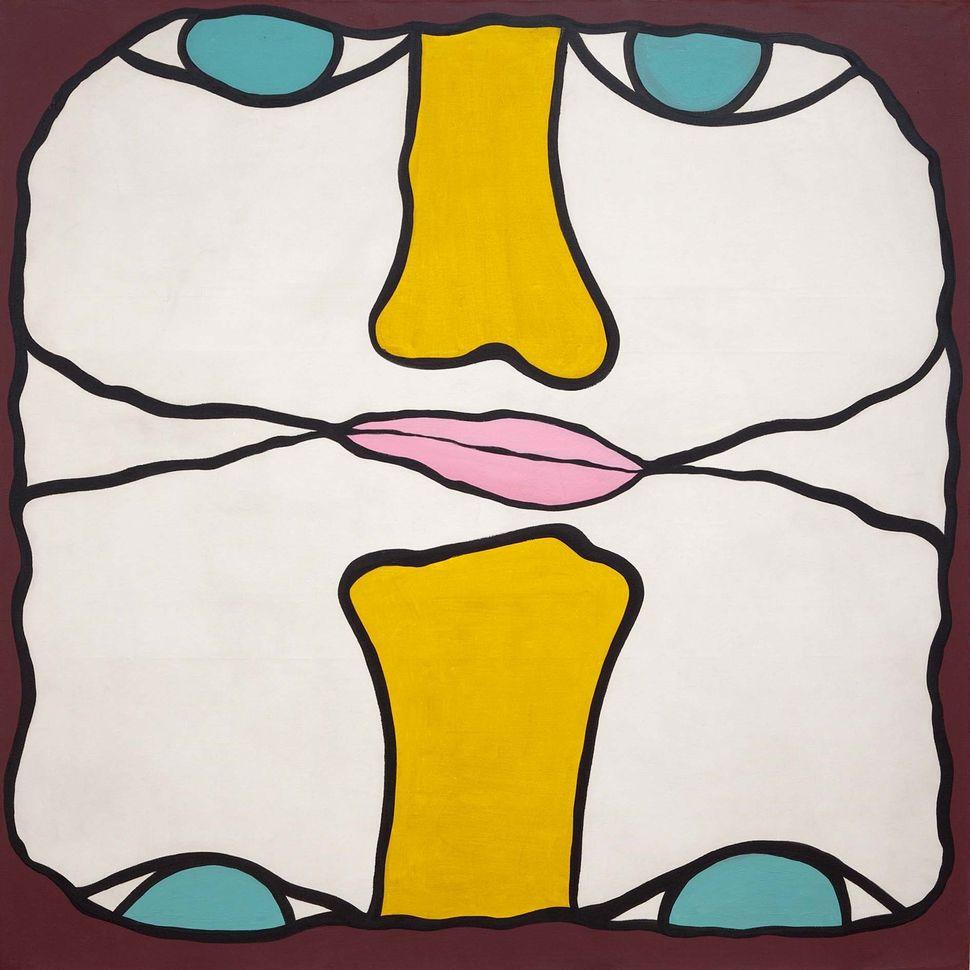Tete-a-tete, 1968, oil on canvas.
