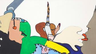 Enlève ton doigt, 1971. Oil on canvas. 15 × 30 in. (38.1 × 76.2 cm).
