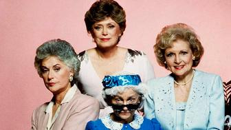 "** FILE ** Cast members of the television series ""Golden Girls,"" pose for a photo, clockwise from left, Bea Arthur, Rue McClanahan, Betty White and Estelle Getty. Getty, the diminutive actress who spent 40 years struggling for success before landing a role in 1985 as the sarcastic octogenarian Sophia on ""The Golden Girls,"" died Tuesday, July 22, 2008, at her Los Angeles home. She was 84. (AP Photo/File)"