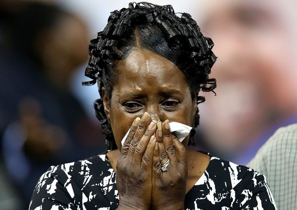 Friends and family pay their respects as they attend the funeral of Alton Sterling.