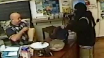 An Egyptian kebab shop owner in Christchurch, New Zealand,  has become an internet hit after a video of him ignoring a would-be robber and continuing to serve a customer went viral, drawing more than a quarter of a million views.