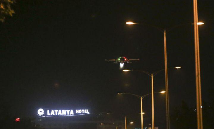 A jet flies low over Ankara.