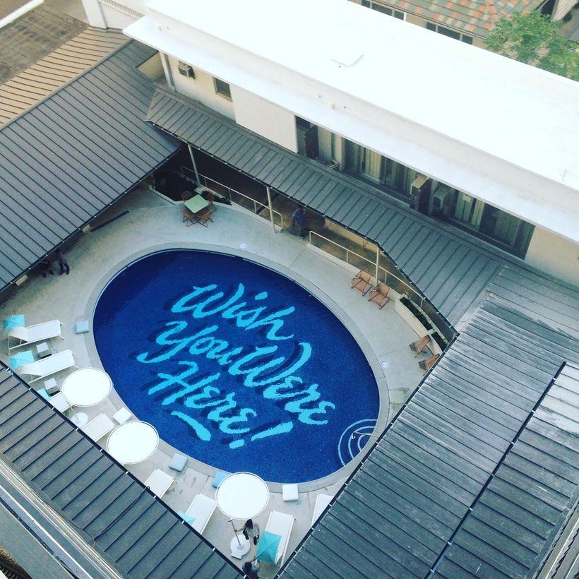 The pool at Surjack Hotel & Swim Club in Waikiki.